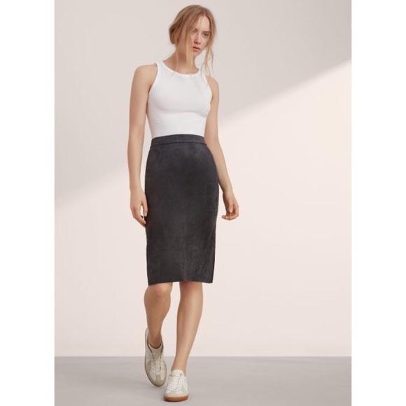 cf66ac40a6 Aritzia Dresses   Skirts - Aritzia Wilfred Lis Black Vegan Suede Skirt
